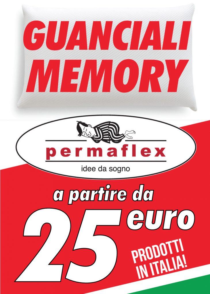 Cuscini Permaflex Memory.Offerta Guanciali Permaflexvicenza